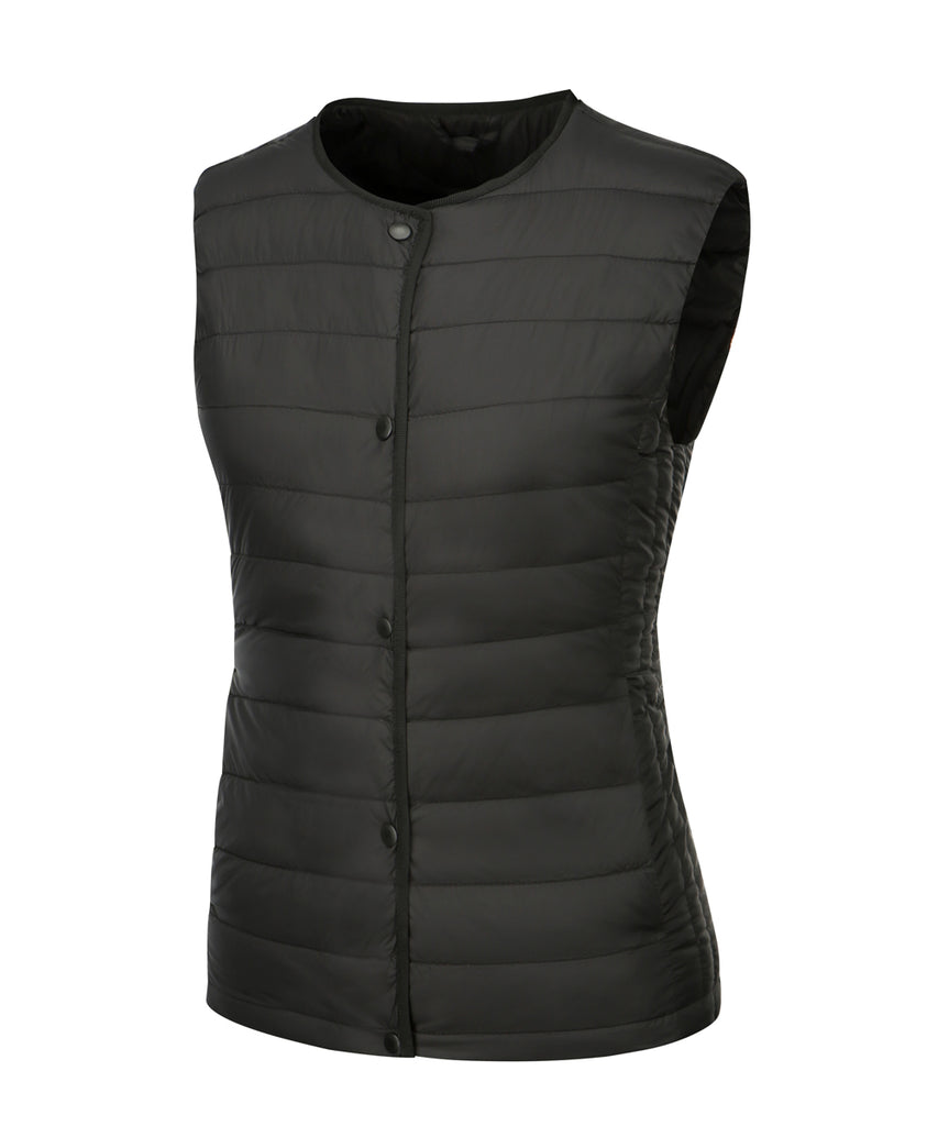 women down vest black front