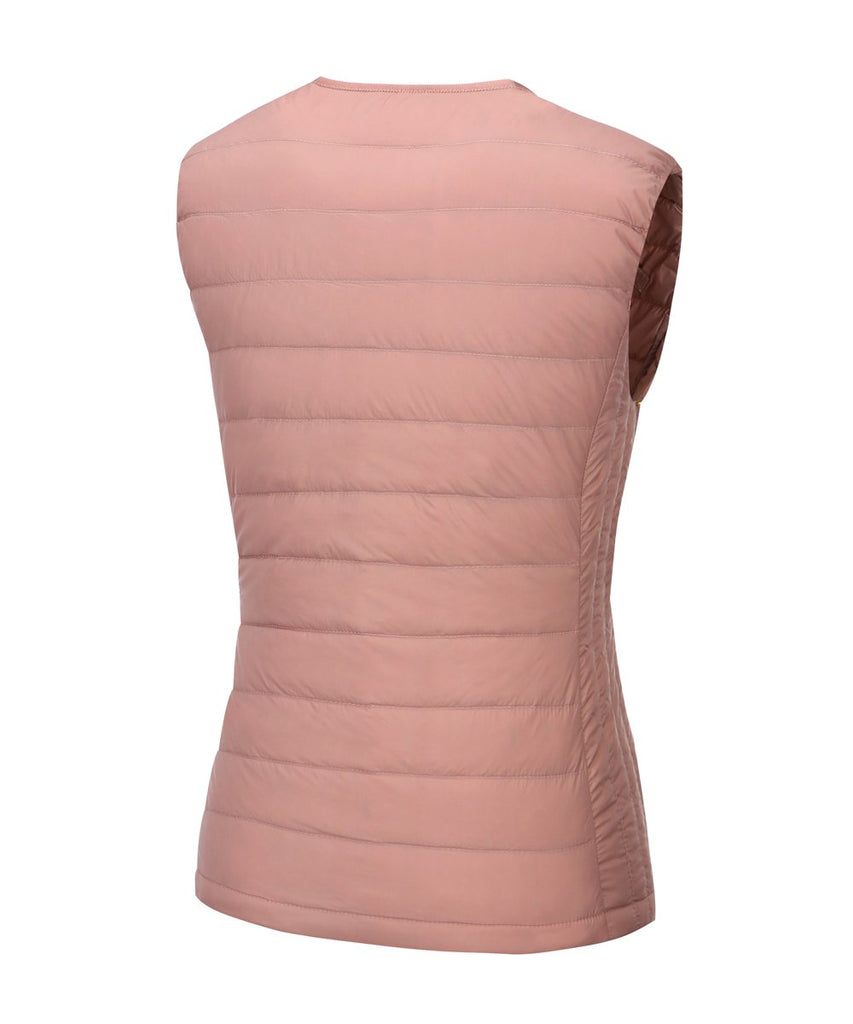 down vest lightweight for women pink