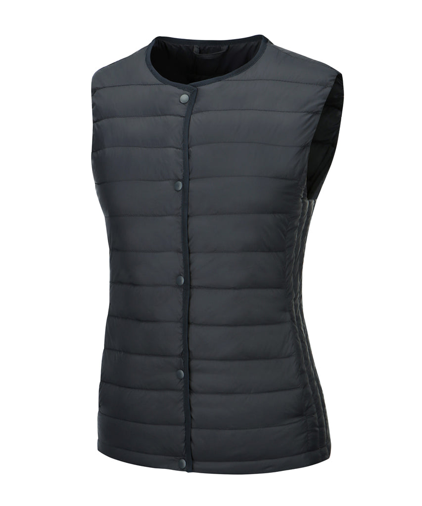 women down vest navy