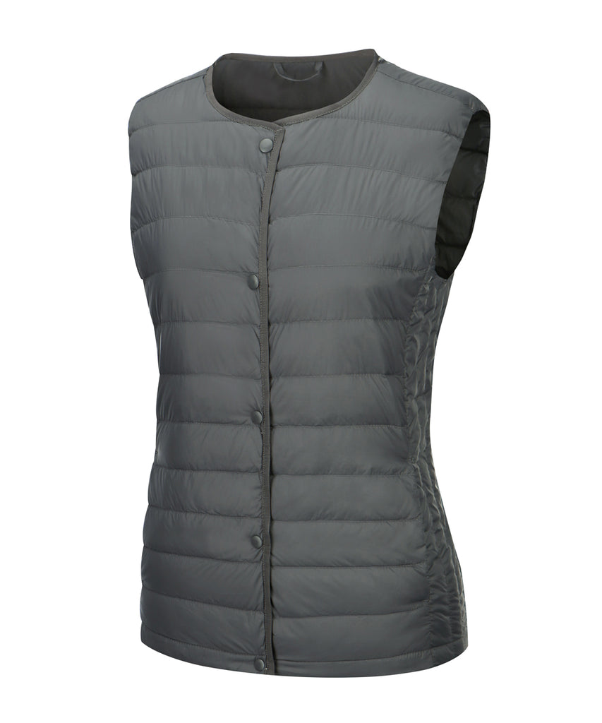 women down vest slate grey