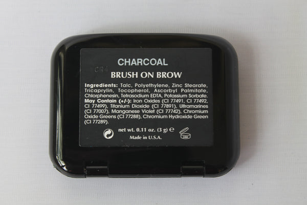 Charcoal Brush On Brow Powder with Mini-brush.