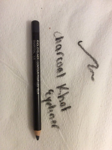 Charcoal Kohl Eyeliner Pencil with metal sharpener