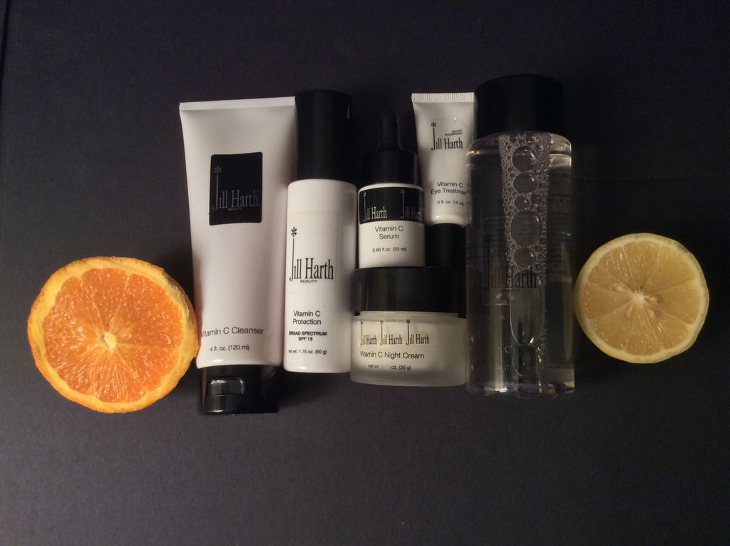 Vitamin C  SIX  Piece Skincare Regime Set   Discounted 20% as a set.