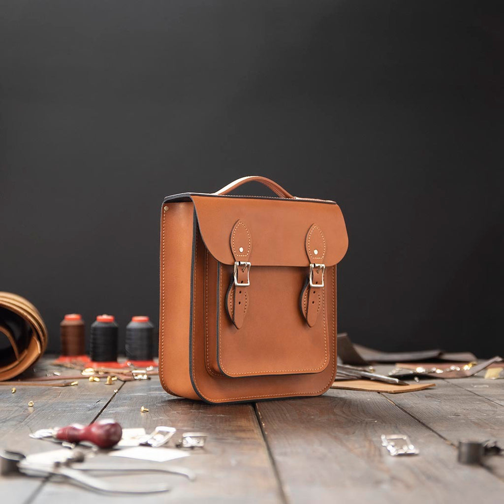 Small Leather Backpack (Portrait)