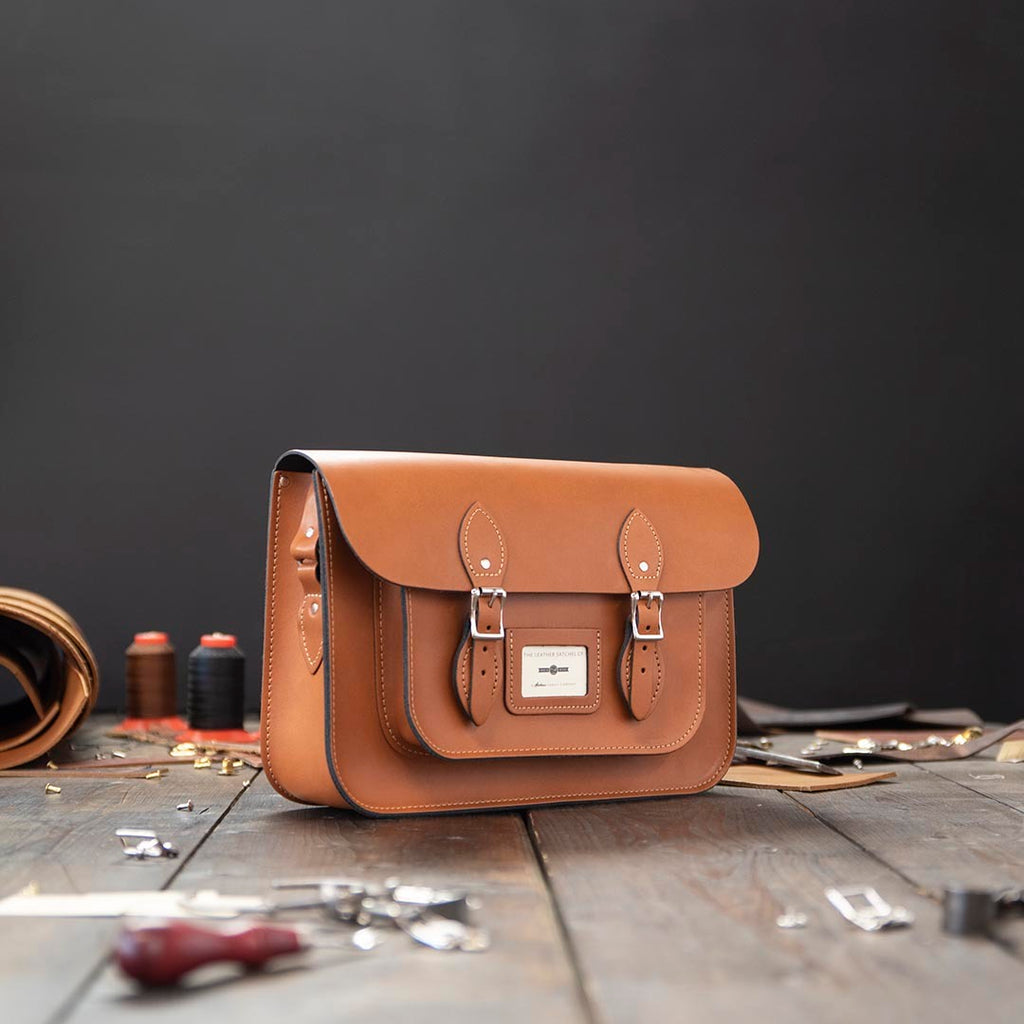14 Inch Leather Satchel Bag