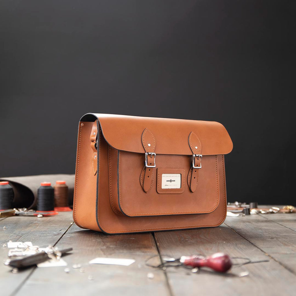 15 Inch Leather Satchel Bag