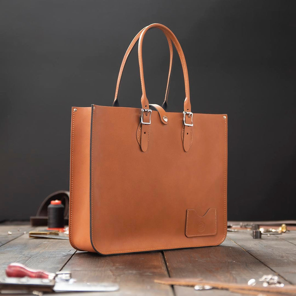Landscape Leather Tote Bag