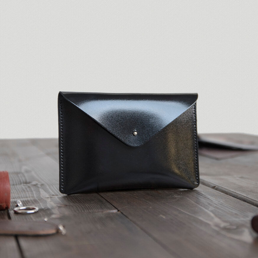 Mini Leather Envelope Clutch Bag