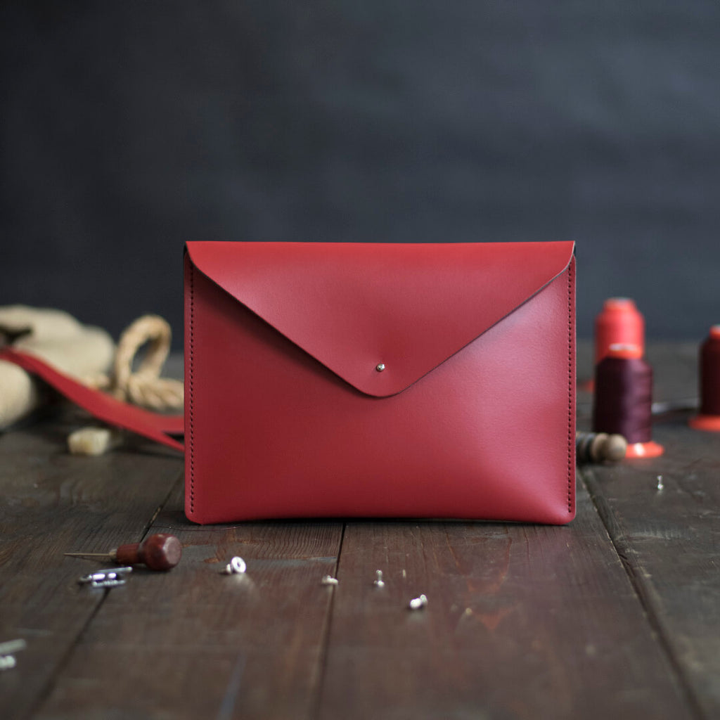 Standard Leather Envelope Clutch Bag