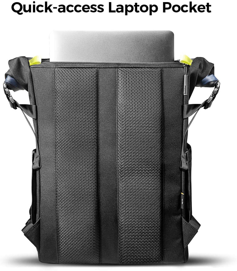 Urban - tomtoc Rolltop Laptop Backpack for Up to 15.6 inch Laptop