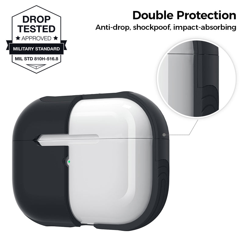 Protective Smart Cover for AirPods Pro - Black