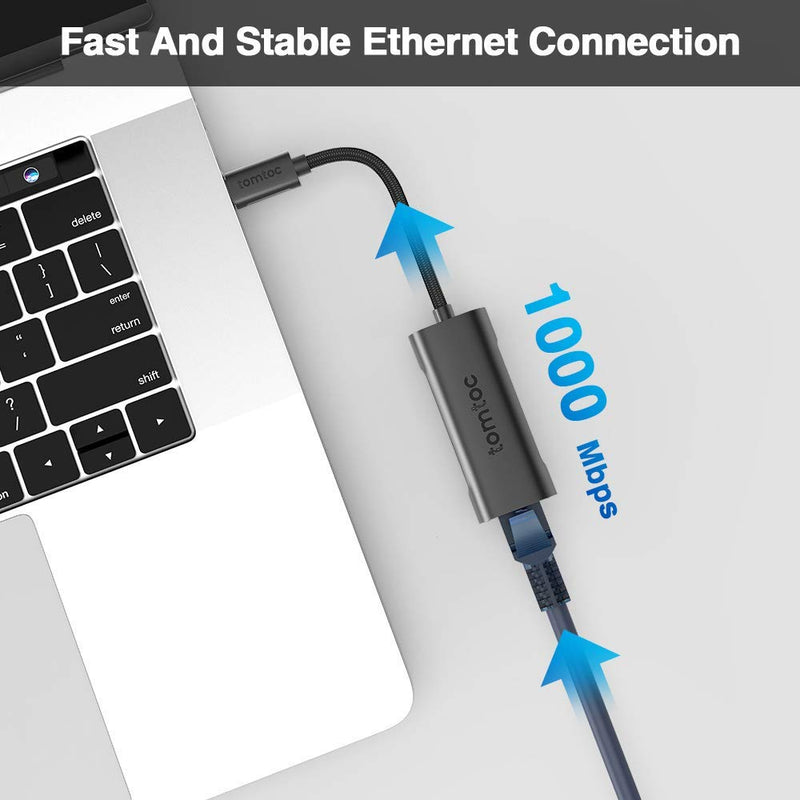 Aluminum Type-C To Gigabit Ethernet Adapter