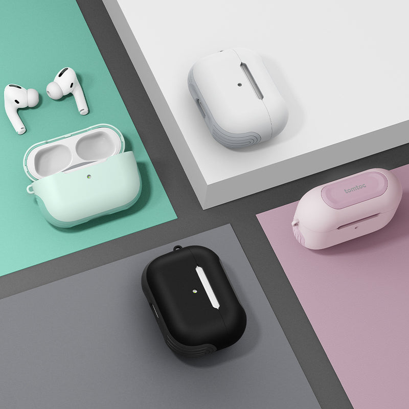 Protective Smart Cover for AirPods Pro - White
