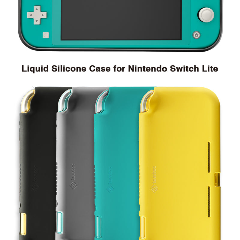 Liquid Silicone Case for Nintendo Switch Lite (Yellow)