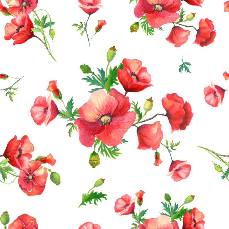 Large Poppies Sublimation Printed Paper