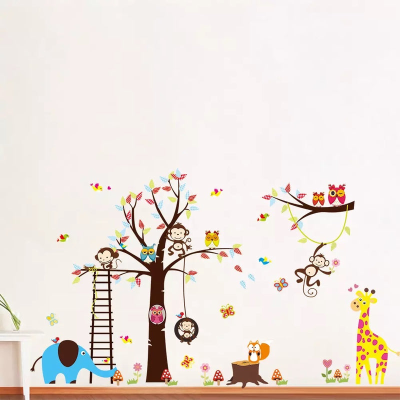 Cute Animals and Tree- Removable