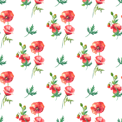 Poppies Small Single Sublimation Printed Paper