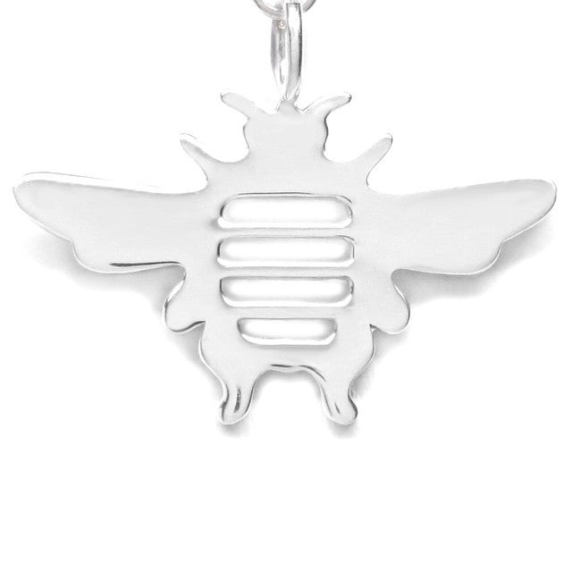 Sterling Silver Bee Dainty Pendant Necklace - Michele Benjamin - Jewelry Design