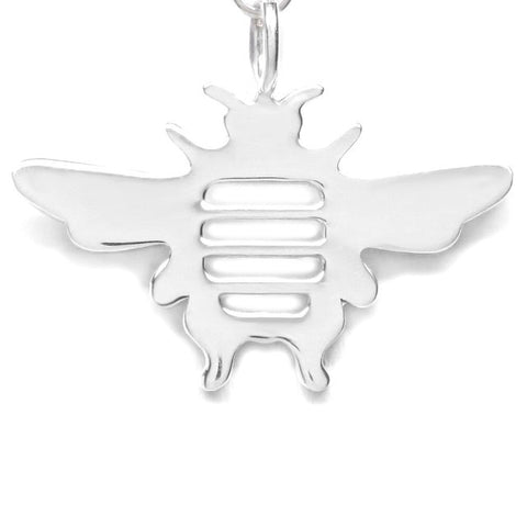 Sterling Silver Bee Dainty Pendant Necklace