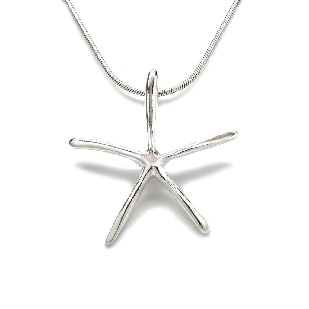 Sterling Silver Starfish Pendant Necklace 18 in. L - Michele Benjamin - Jewelry Design