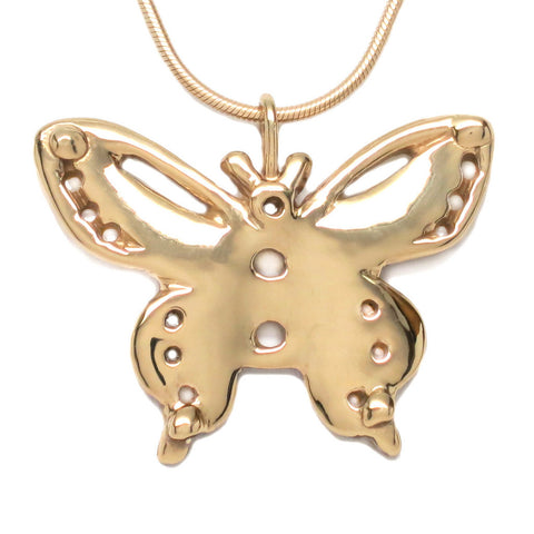 18K Gold Plated Sterling Silver Butterfly Pendant Necklace 18 inch L