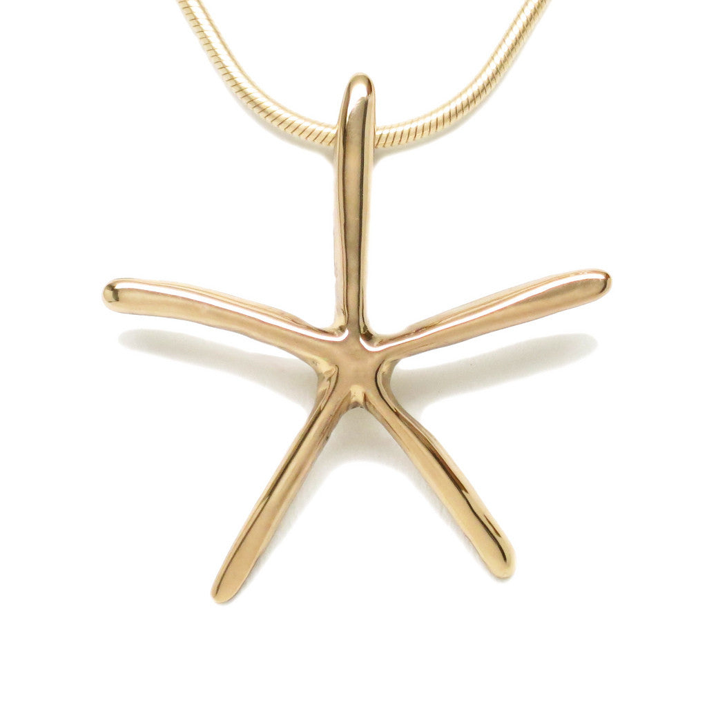 18K Yellow Gold Plated Sterling Silver Starfish Necklace 18L - Michele Benjamin - Jewelry Design