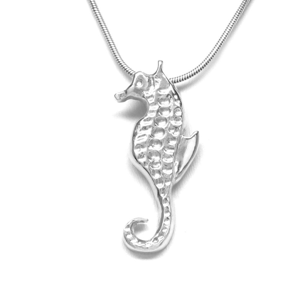 Sterling Silver Seahorse Pendant Necklace by Michele Benjamin - Michele Benjamin - Jewelry Design