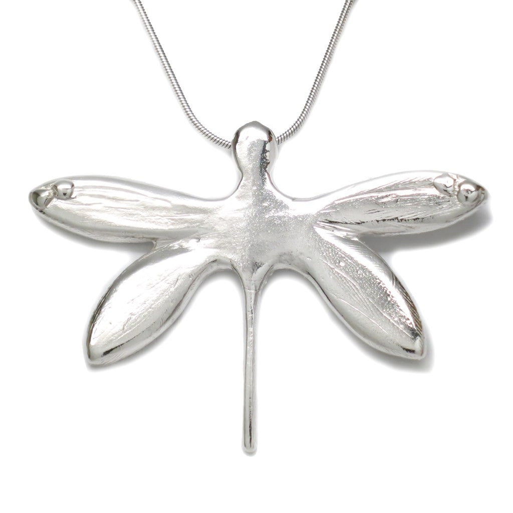 Sterling Silver Dragonfly Pendant Necklace 18 Inch L - Michele Benjamin - Jewelry Design