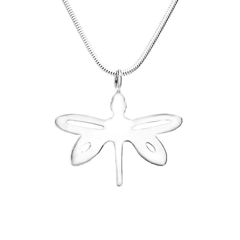 Sterling Silver Dragonfly Dainty Pendant Necklace