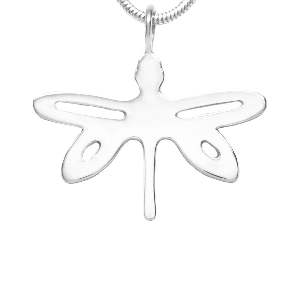 Sterling Silver Dragonfly Dainty Pendant Necklace - Michele Benjamin - Jewelry Design