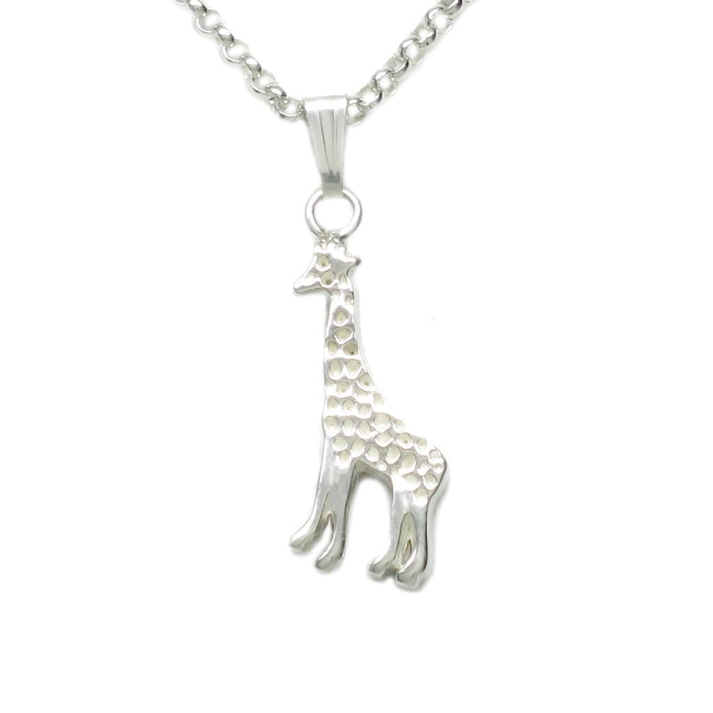 Sterling Silver Tiny Giraffe Necklace 18 L - Michele Benjamin - Jewelry Design