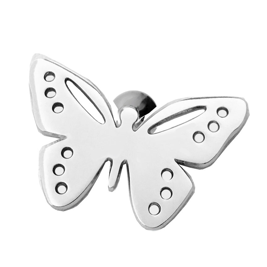 Sterling Silver Butterfly Lapel Pin Brooch - Michele Benjamin - Jewelry Design