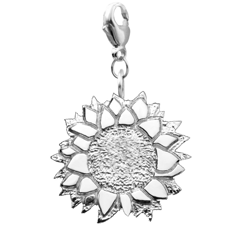 Sterling Silver Sunflower Charm Necklace - Michele Benjamin - Jewelry Design
