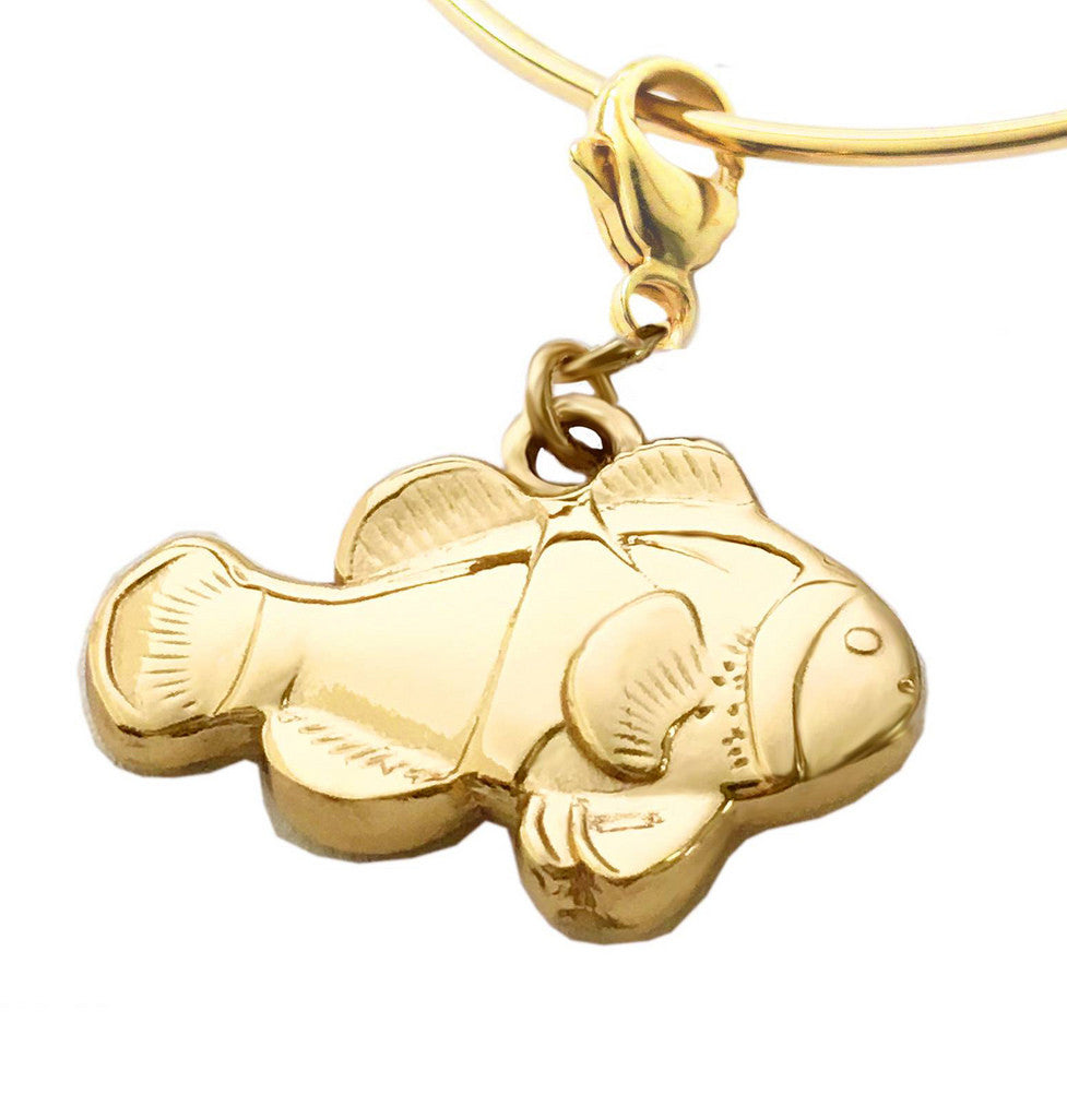 Michele Benjamin 18K Gold Plated Sterling Silver Clownfish Charm - Michele Benjamin - Jewelry Design