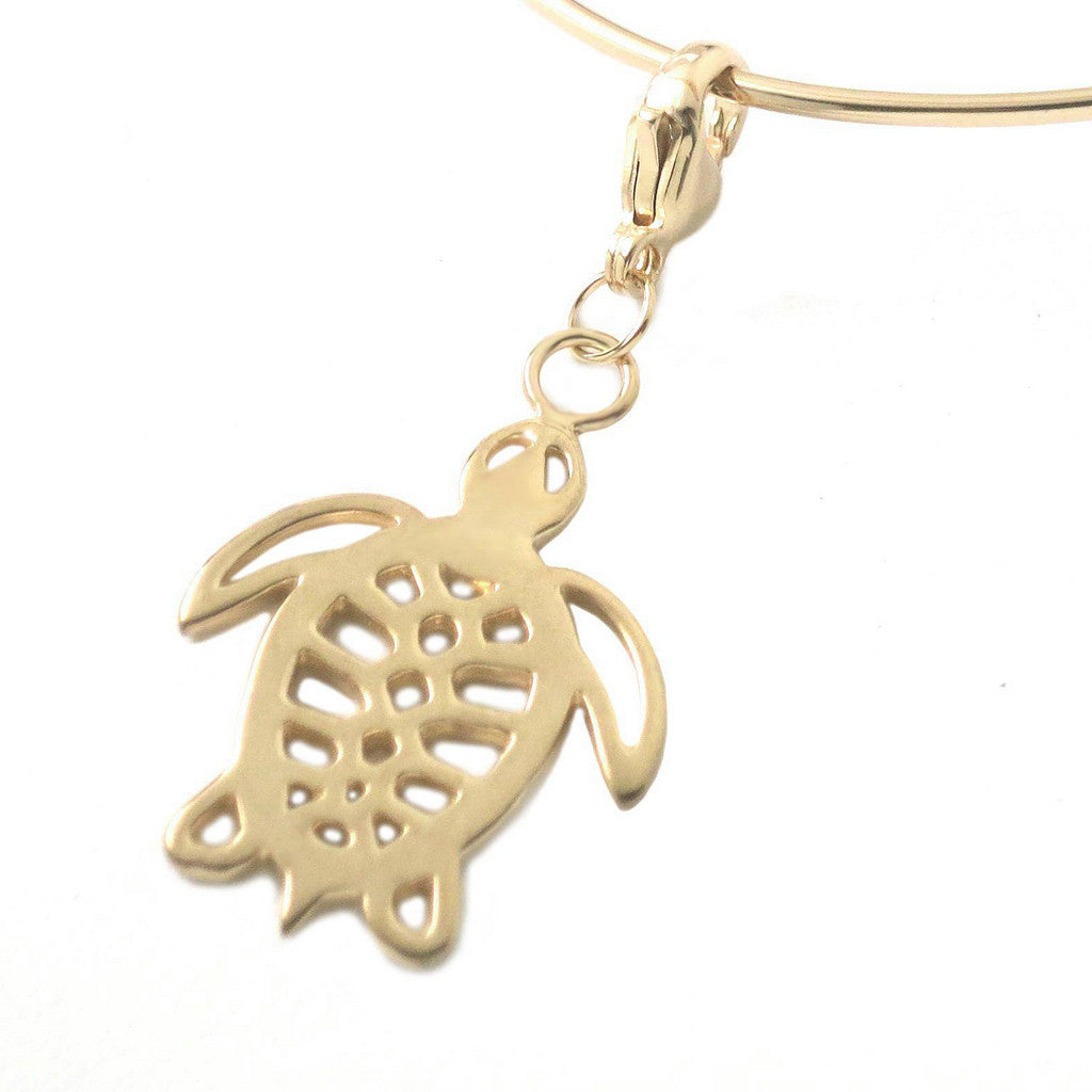 18K Gold Plated Sterling Silver Sea Turtle Charm - Michele Benjamin - Jewelry Design
