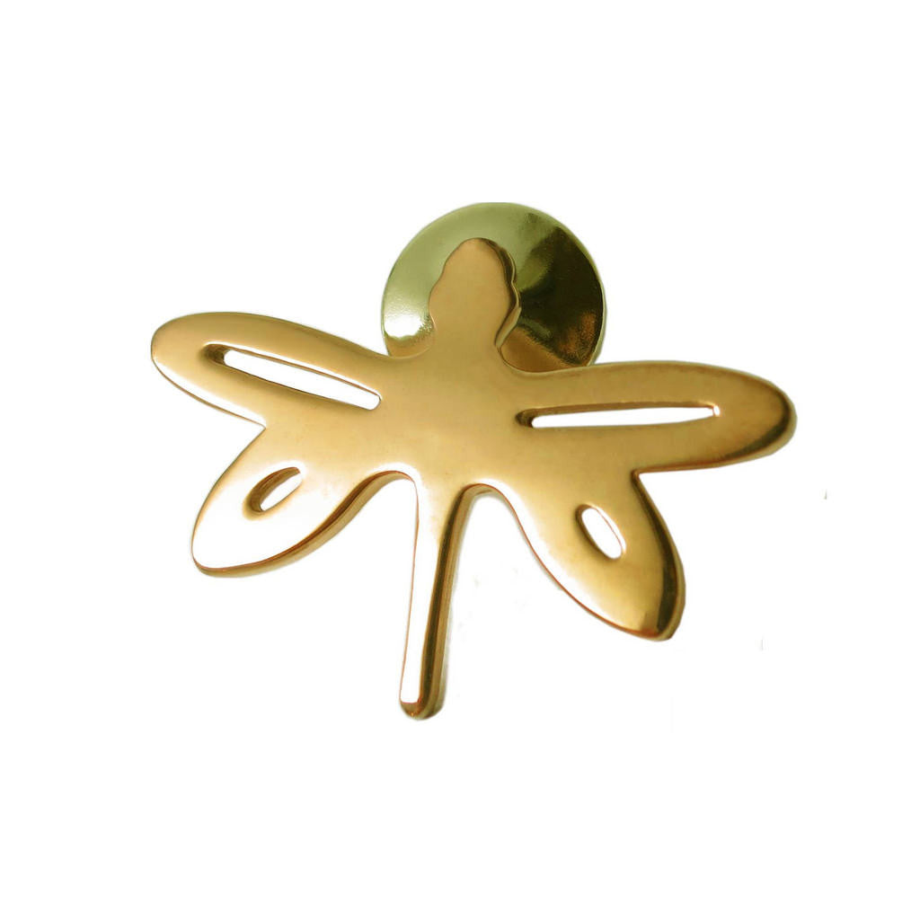 18K Gold Vermeil Dragonfly Pin - Michele Benjamin - Jewelry Design