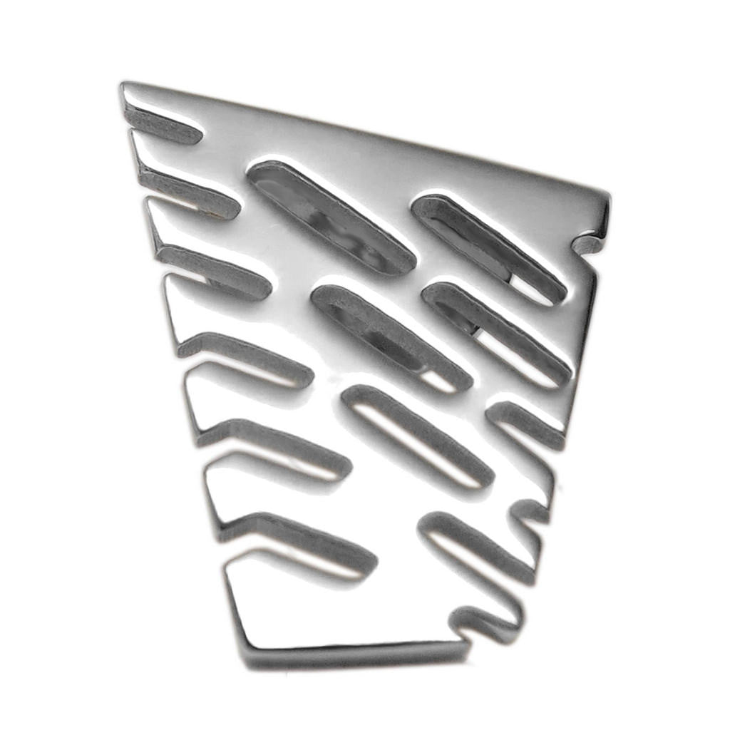 Sterling Silver Small Abstract II Lapel Tie Pin - Michele Benjamin - Jewelry Design