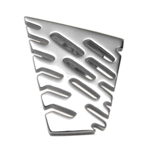 Sterling Silver Small Abstract II Lapel Tie Pin