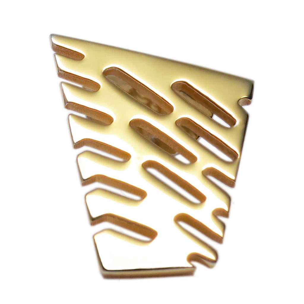 18K Gold Vermeil Small Abstract II Lapel Tie Pin - Michele Benjamin - Jewelry Design