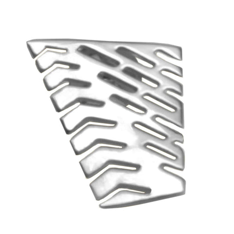 Sterling Silver Large Abstract I Lapel Tie Pin