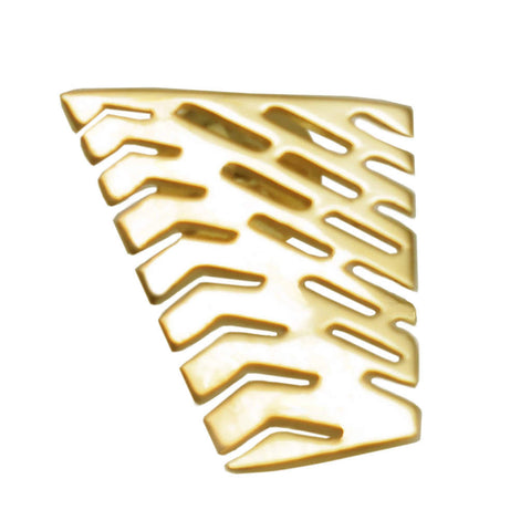 18K Gold Vermeil Large Abstract I Lapel Tie Pin