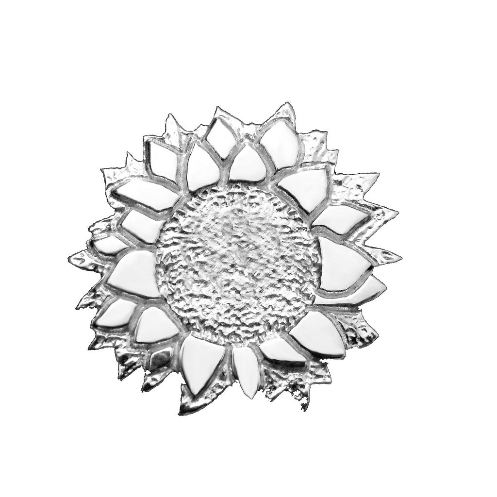 Sterling Silver Sunflower Lapel Pin - Michele Benjamin - Jewelry Design