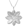 Sterling Silver Mystic Illusion Dahlia Statement Necklace - Michele Benjamin - Jewelry Design