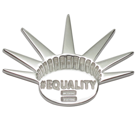 Equality Liberty Crown NYC Jewelry Lapel Brooch Pin - SIZE XL