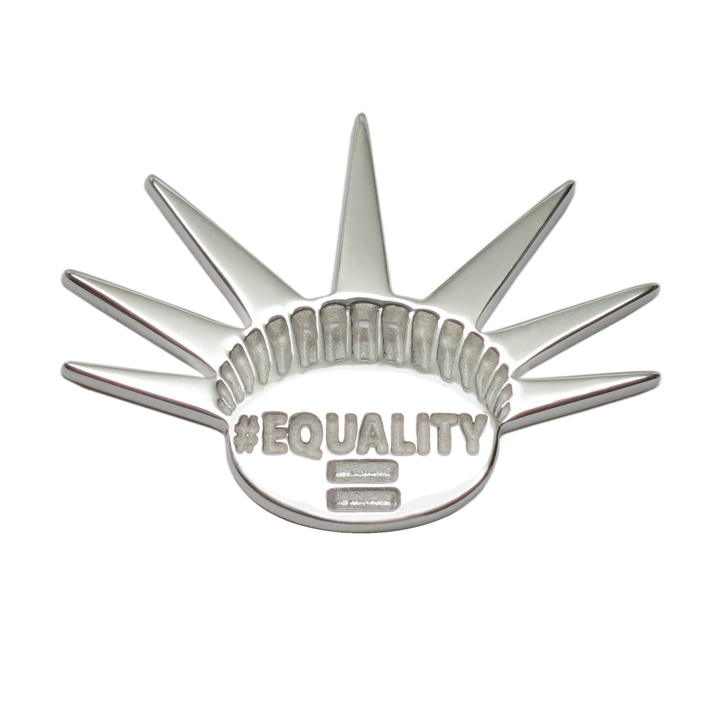 Sterling Silver EQUALITY Activist Feminist Lapel Pin Brooch - Michele Benjamin - Jewelry Design
