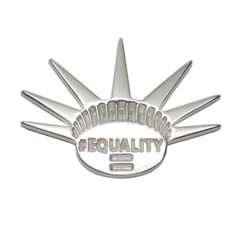 Sterling Silver EQUALITY Activist Feminist Lapel Pin Brooch