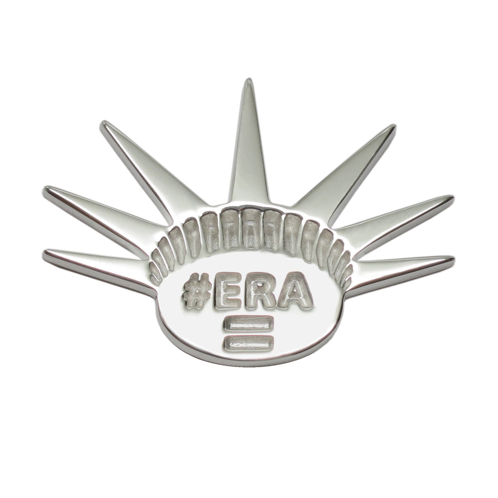Sterling Silver #ERA = Activist Feminist Jewelry Lapel Brooch Pin - Michele Benjamin - Jewelry Design