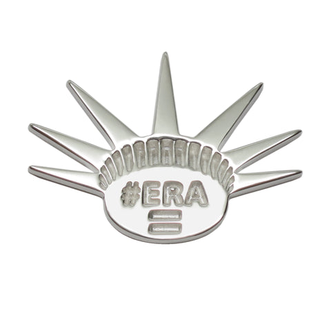 Sterling Silver Liberty Crown ERA Equal Rights Amendment Activist Lapel Pin Brooch