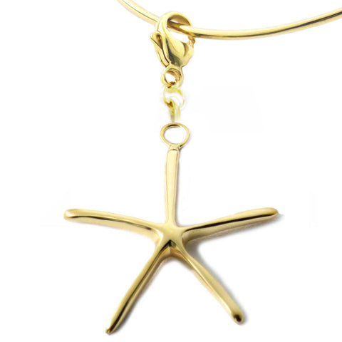 18K Gold Vermeil Sterling Silver Starfish Charm