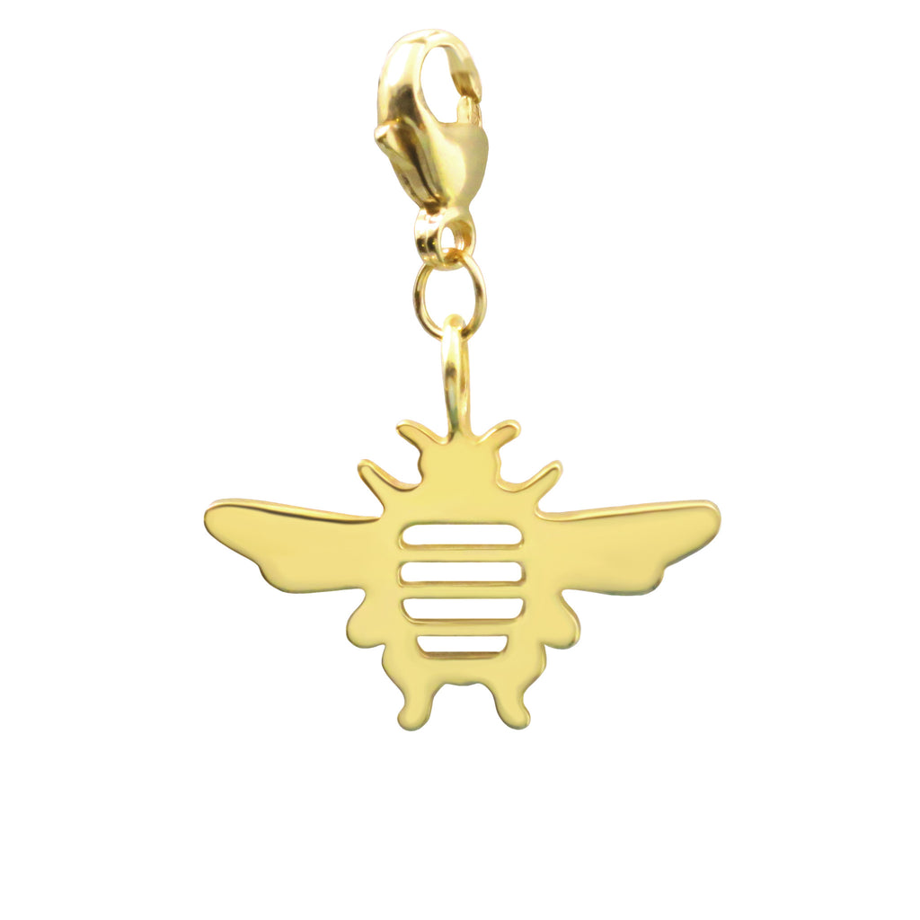 18K Gold Plated Sterling Silver Bee Charm - Michele Benjamin - Jewelry Design